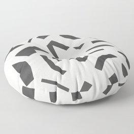 Cut Out - Black Floor Pillow