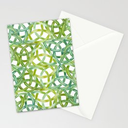 Celtic Knots Lime Green Stationery Cards