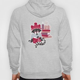 Hygge raccoon // white background Hoody
