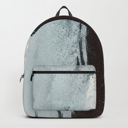 Like A Gentle Hurricane [3]: a minimal, abstract piece in blues and white by Alyssa Hamilton Art Backpack