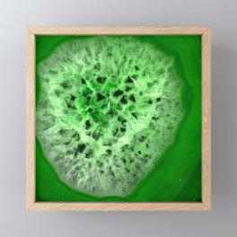 Agate green stone Framed Mini Art Print