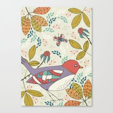 Bird and Butterfly  Canvas Print
