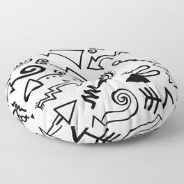 Arrow Doodles Floor Pillow