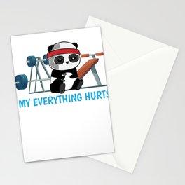 Panda Exercising Sports sarcasm Gift Stationery Cards
