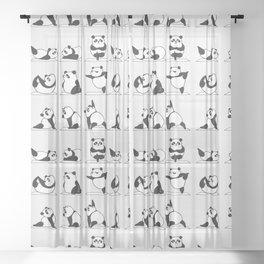 Panda Yoga Sheer Curtain