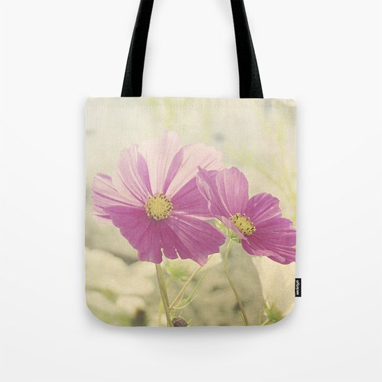 Vintage Cosmos in the Sun Tote Bag
