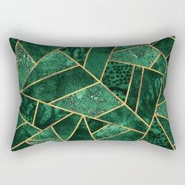 Deep Emerald Rechteckiges Kissen