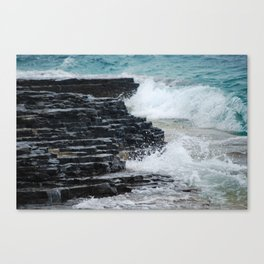 Water and Rocks Canvas Print