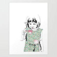 BubbleGirl Art Print