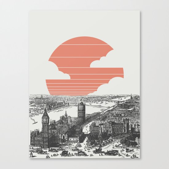 Goodnight London Canvas Print