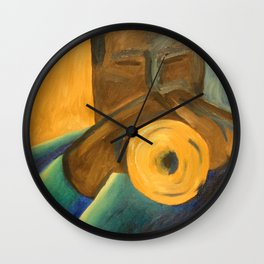 The Trumpet Player Wall Clock