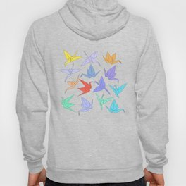 Japanese Origami paper cranes symbol of happiness, luck and longevity Hoody