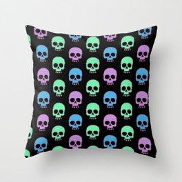 Pastel Candy Skulls Throw Pillow