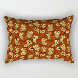 Northern Saw-whet owls pattern. Rectangular Pillow