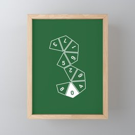 Unrolled D10 Framed Mini Art Print