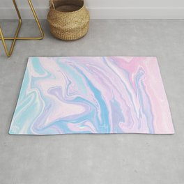 Pastel Unicorn Marble Dream #1 #pastel #decor #art #society6 Rug