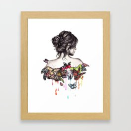 Butterfly Woman Framed Art Print