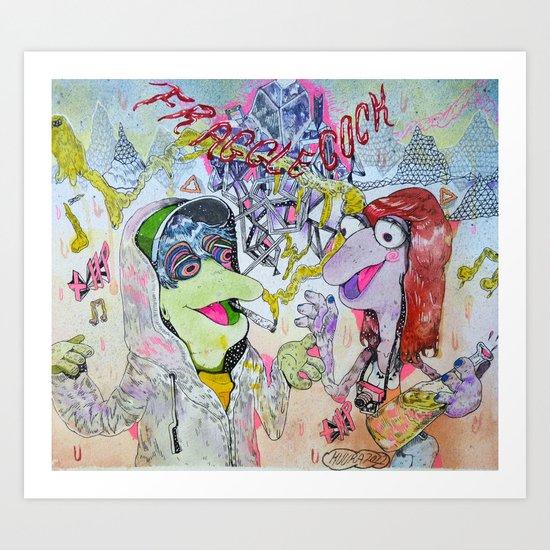 fraggle cock Art Print