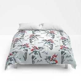 Vampire Bat Pinup Girl Comforters
