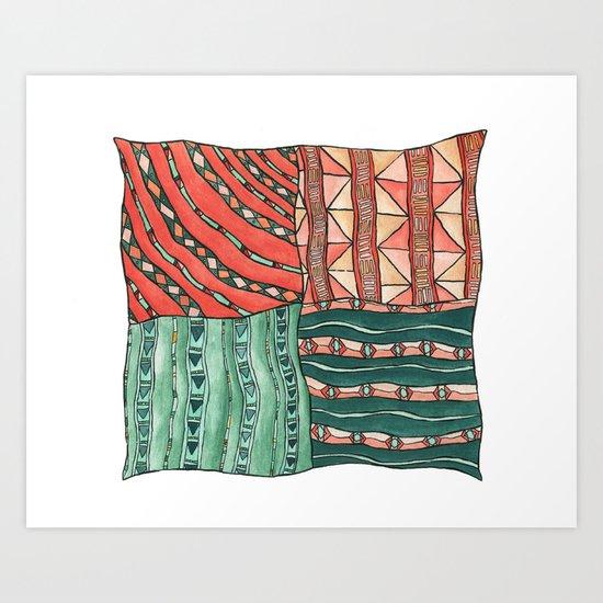 Patterned Piece #1 Art Print