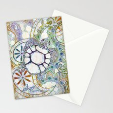 Sea Turtle Paisley  Stationery Cards