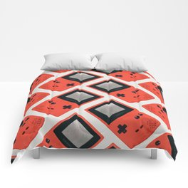 Gameboy Color: Red (Pattern) Comforters