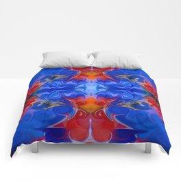 Blue Beginnings Abstract Pattern Artwork  Comforters