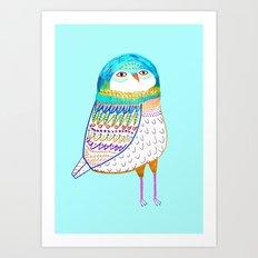 Blue Owl. Art Print