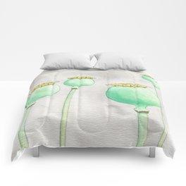 Four Poppy Pods Comforters