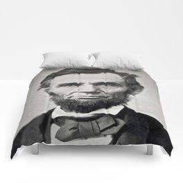 Portrait of Abraham Lincoln by Alexander Gardner Comforters