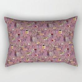 Wine and Cheese Pattern Print Rectangular Pillow