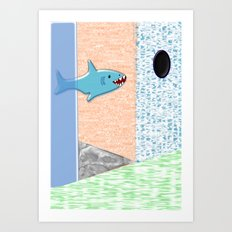Sharkey Art Print