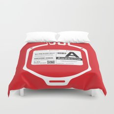 My Blood Type is A, for Awesome! Duvet Cover