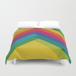 Bright Summer Lines Duvet Cover