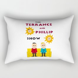 The Terrance and Phillip Show Poster on T-shirt Rectangular Pillow