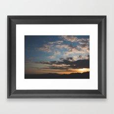 Sunset Hike Los Angeles Framed Art Print
