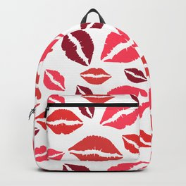 Happy Lips Pattern Backpack