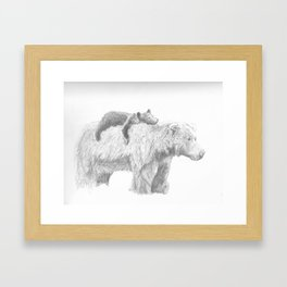 Mama and Cub Framed Art Print
