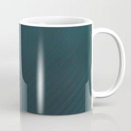 BLADE jade blue solid gem tone distressed with subtle stripes Coffee Mug