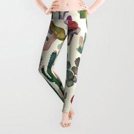 Cactus and Mushrooms Leggings