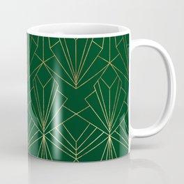 Art Deco in Gold & Green Coffee Mug