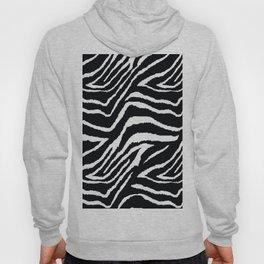 ZEBRA ANIMAL PRINT BLACK AND WHITE PATTERN Hoody