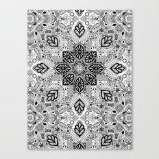 Gypsy Lace in Monochrome Canvas Print
