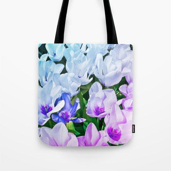 Blue Indigo Tulips Tote Bag