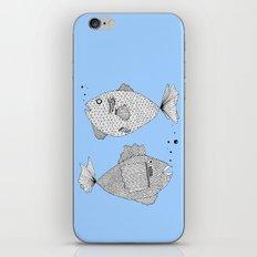 Two Fish Blue Fish iPhone & iPod Skin