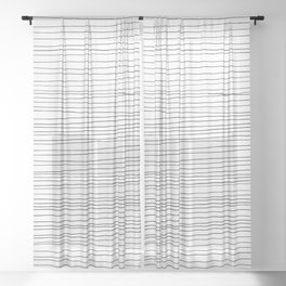Fine Lines Sheer Curtain