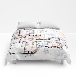 The Golden Girls House floorplan v.1 Comforters