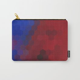 COBALT AND RED HONEYCOMB Carry-All Pouch