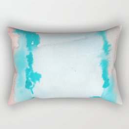 180815 Watercolor Rothko Inspired 9  Colorful Abstract   Modern Watercolor Art Rectangular Pillow