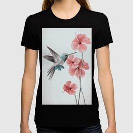 Hummingbird with Hibiscus T-shirt